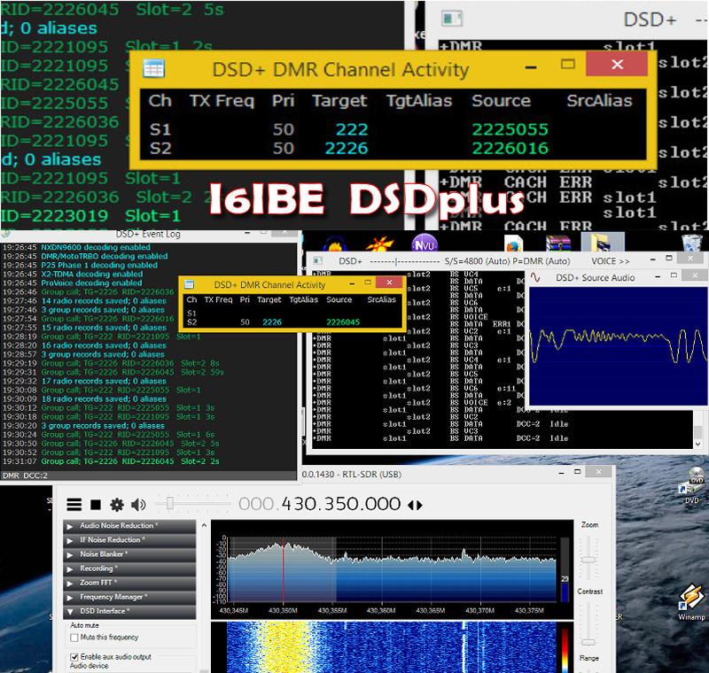 DSDPlus 101 voce DMR e DSTAR con RTL2832 I6IBE Ivo