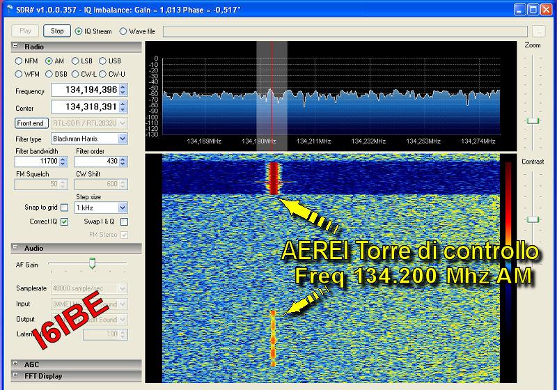 SDRSharp software sdr RTL2832U dongle i6ibe SDRSHARP
