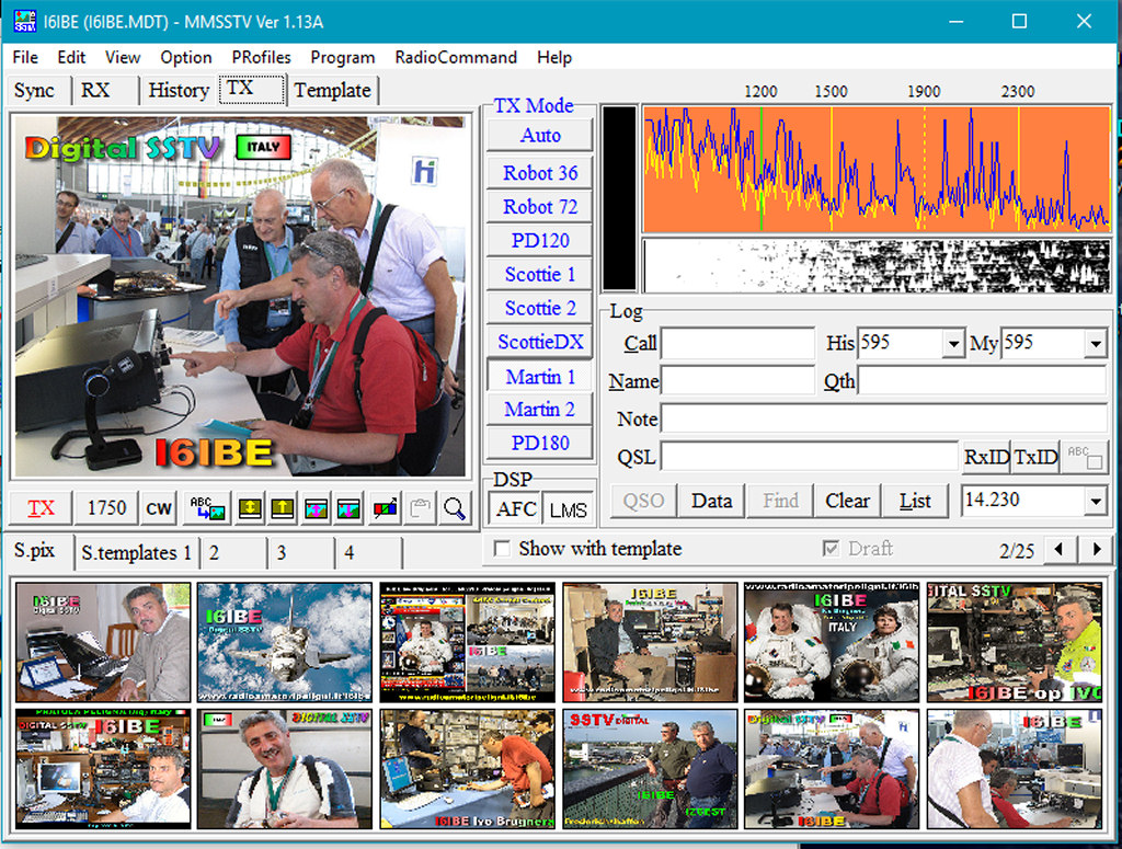 QO100 EsHail Oscar100 SAT SSTV Slov Scan TeleVision