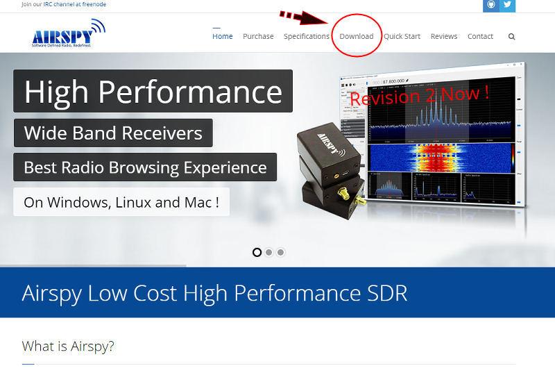 SDRSharp software sdr RTL2832U dongle i6ibe vhf uhf 60 1700 Mhz